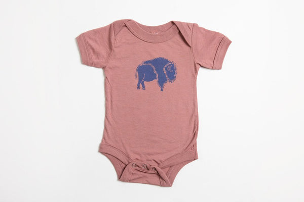 Bison Onesie - Bird and Buffalo, Made in Jackson Hole, WY