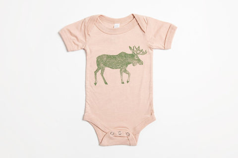 Moose Onesie - Bird and Buffalo, Made in Jackson Hole, WY