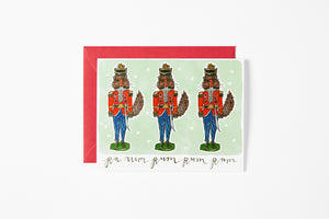 Greeting Card - Fox Nutcracker - Bird and Buffalo, Made in Jackson Hole, WY