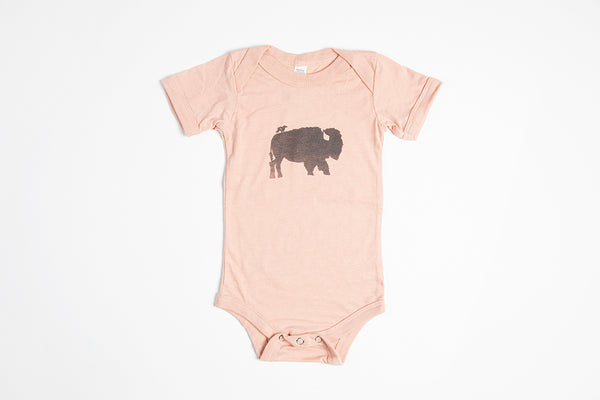 Bird and Buffalo Onesie - Bird and Buffalo, Made in Jackson Hole, WY