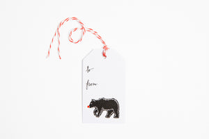 Gift Tag - Red Nose Bear - Bird and Buffalo, Made in Jackson Hole, WY