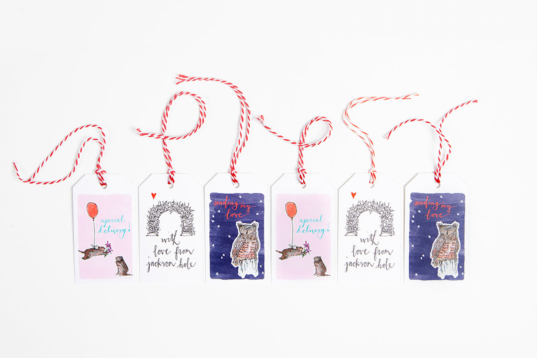 Gift Tag - Pick your own set - Bird & Buffalo