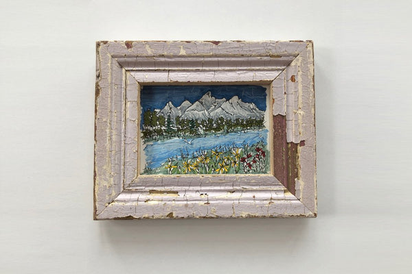 Tetons and Wildflowers Purple Frame - Bird and Buffalo, Made in Jackson Hole, WY