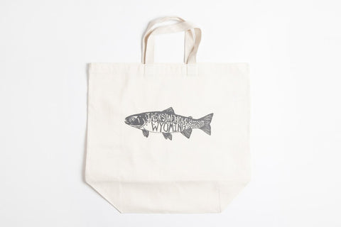Tote Bag - Trout - Bird and Buffalo, Made in Jackson Hole, WY