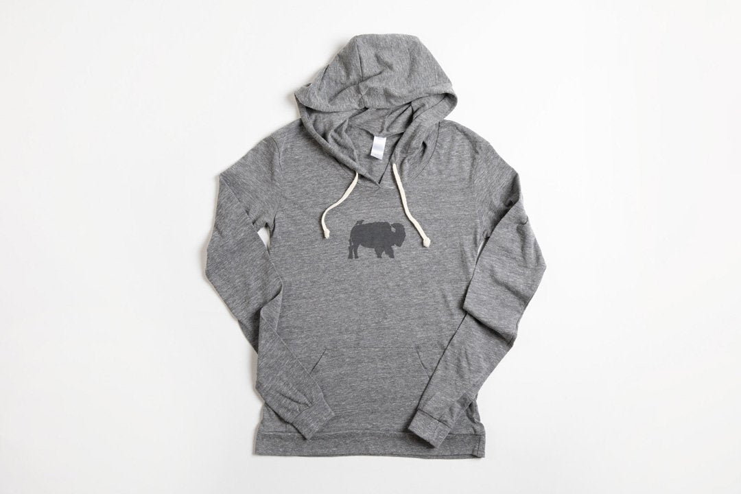 Bird and Buffalo Women's Hoodie - Bird and Buffalo, Made in Jackson Hole, WY