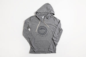 JH Circle Logo Women's Hoodie - Bird and Buffalo, Made in Jackson Hole, WY