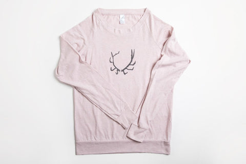 Antler Women's Slouchy Shirt - Bird and Buffalo, Made in Jackson Hole, WY