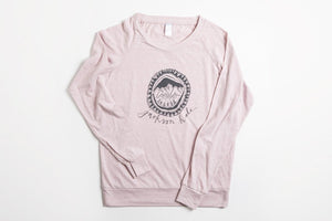 JH Circle Logo Women's Slouchy Shirt - Bird & Buffalo
