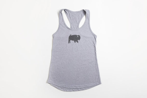 Bird and Buffalo Women's Gray Tank Top - Bird and Buffalo, Made in Jackson Hole, WY