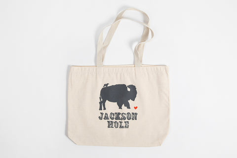 Tote Bag - Bird and Buffalo - Bird and Buffalo, Made in Jackson Hole, WY