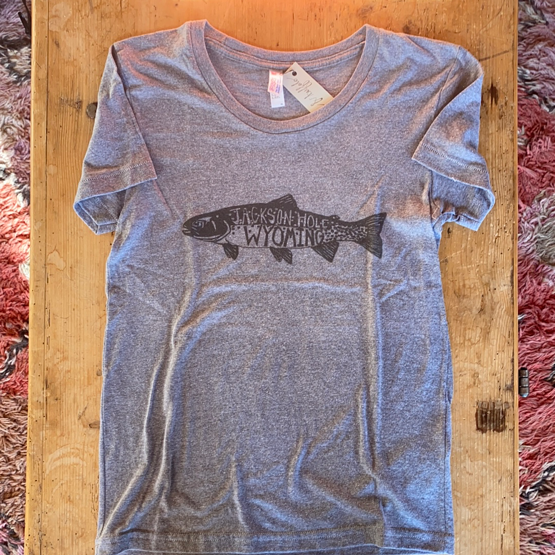 SALE - T-Shirt - Trout - Bird and Buffalo, Made in Jackson Hole, WY
