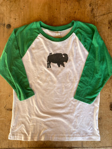 SALE - Kids baseball Shirt - Bird and Buffalo - Bird & Buffalo