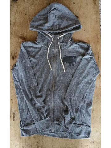 SALE Bird and Buffalo Zipper Hoodie - Bird & Buffalo