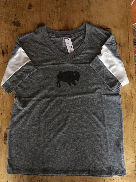 SALE Flag Football T-Shirt - Bird and Buffalo - Bird & Buffalo