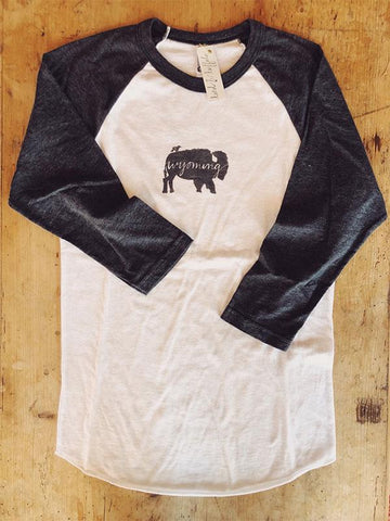 SALE Baseball T-Shirt - Wyoming Bird and Buffalo - Bird & Buffalo