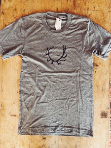 SALE Short Sleeve T-Shirt - Antler - Bird and Buffalo, Made in Jackson Hole, WY