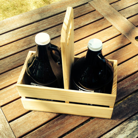 Hand Crafted Wood Growler Holder