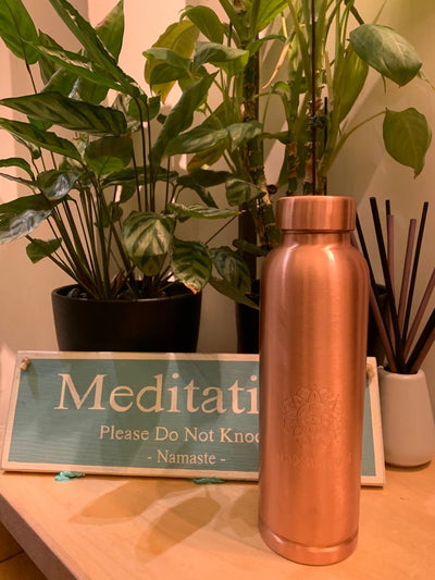 Copper Water Bottle by Modern Yogi (1 Litre) - enhale