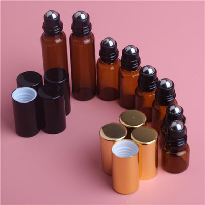 Amber Roll-On Essential Oils Bottle (5 bottles) - enhale