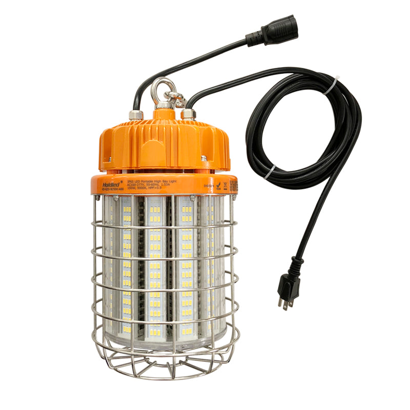 100W Led Temporary Work Light Fixture 12000LM 5000K - Jobsite Construction Site- 5 years Warranty