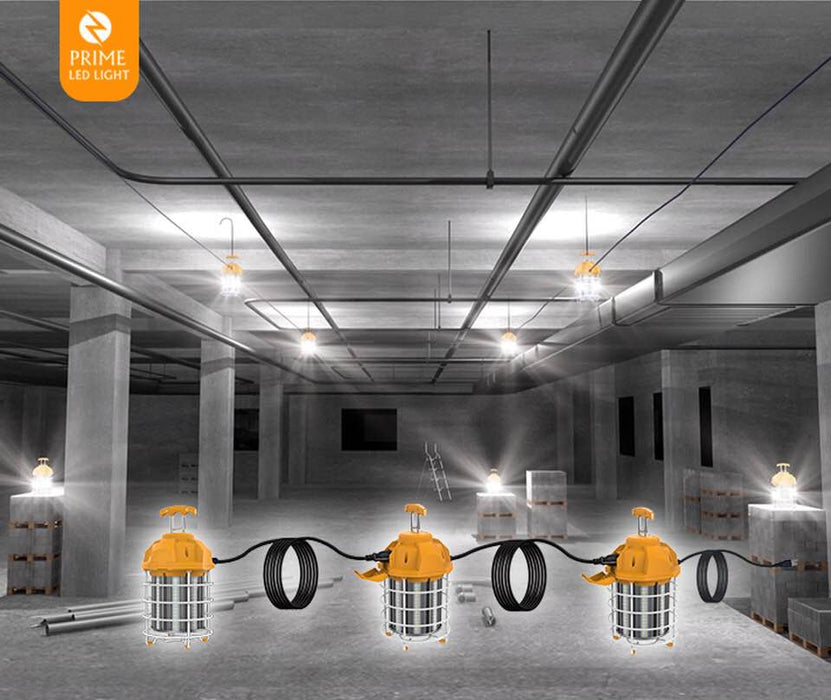100W Led Temporary Work Light Fixture 12000LM 5000K - Jobsite Construction Site-5 years Warranty.