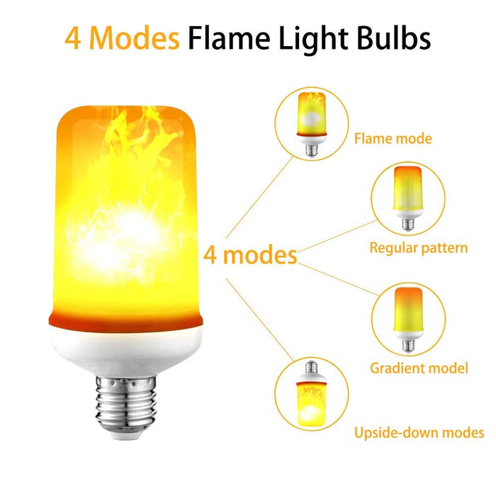 LED Flame Effect Light Bulbs E26/E27 Fire Flickering Light Bulb 7W 99pcs 2835