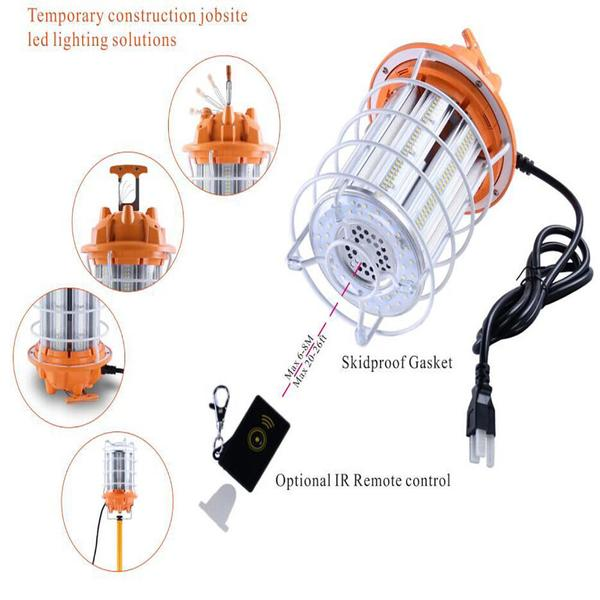 30W/100W/150W Led Temporary Work Light Fixture 3600lm/12000lM/18000lm 5000K - Jobsite Construction Site -5 years Warranty