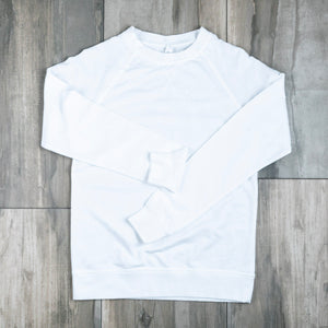 Mock Neck Sweatshirt | White