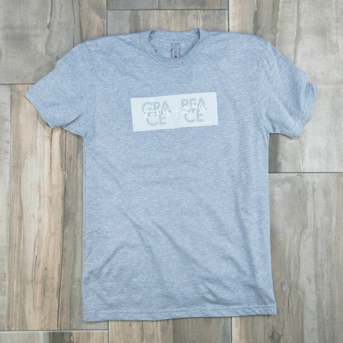 T-Shirt | Grace + Peace | Gray