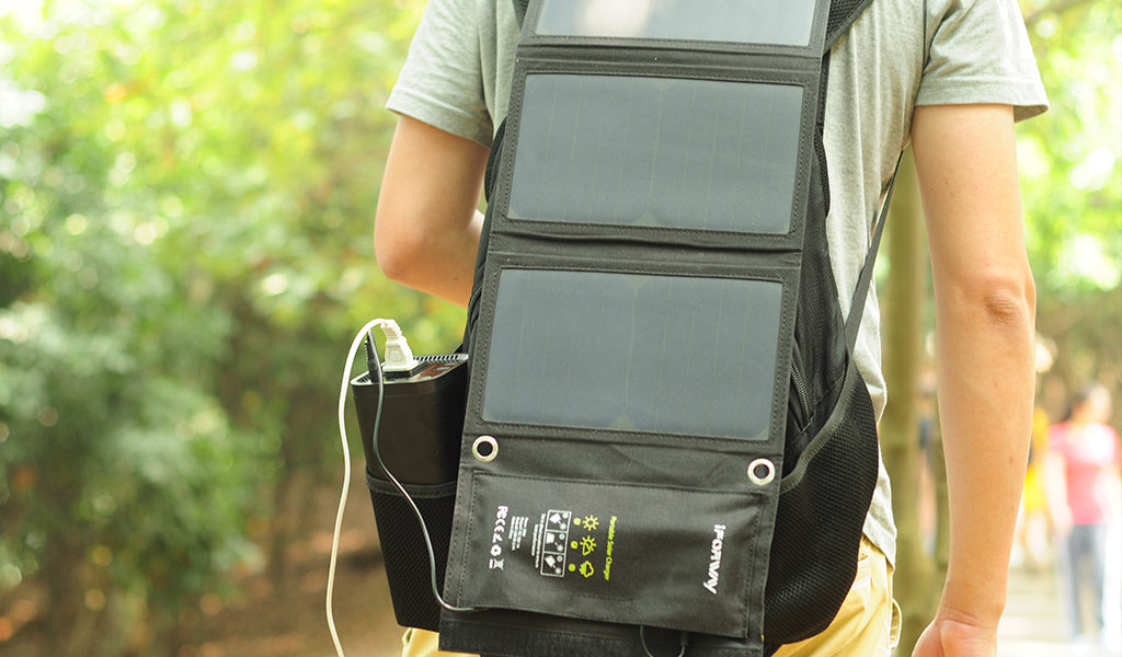 solar energy for hiking day