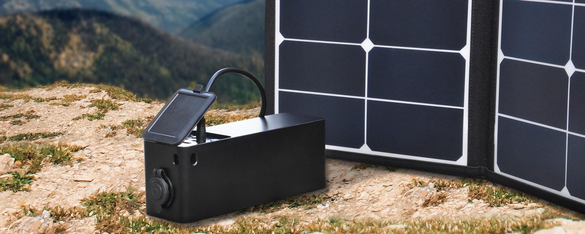 solar charger power source portable for home outdoors