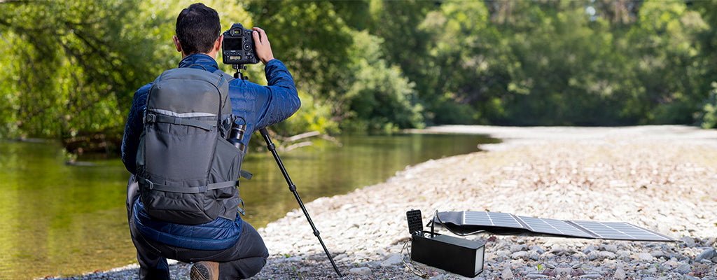 portable  solar charger for photographer