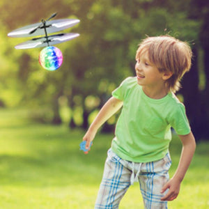 Flying Toy Ball Built-in LED Light Disco Helicopter  Indoor and Outdoor Games Toys