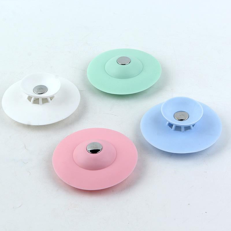 Press Type Silicone Sink Strainers, Kitchen Bathroom Anti-Clogging Sink Filter Sundry Catchers Floor Drain Cover