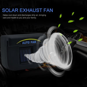 Solar Powered Car Auto Cooler Ventilation Fan