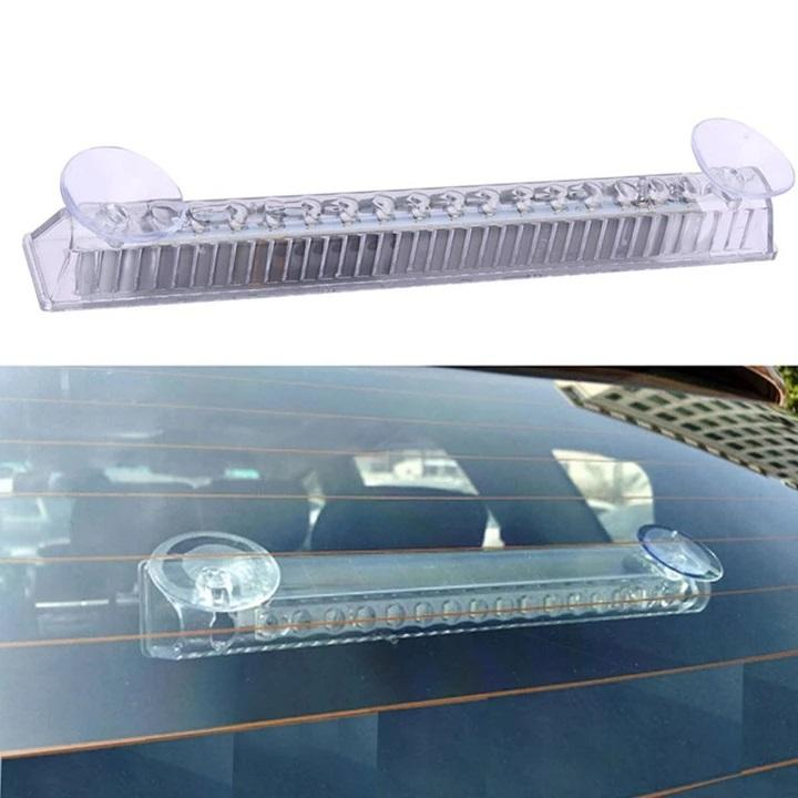 (16 Highlights, 11 Flash Modes)--Car Solar Strobe Light--Solar Protection Taillight, Wiring Free Installation
