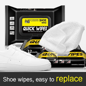 Premium Shoe Cleaner Wipes - Removes Dirt and Stains for Leather, Canvas, White Sneakers and More