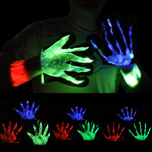 Halloween funny horror glowing gloves