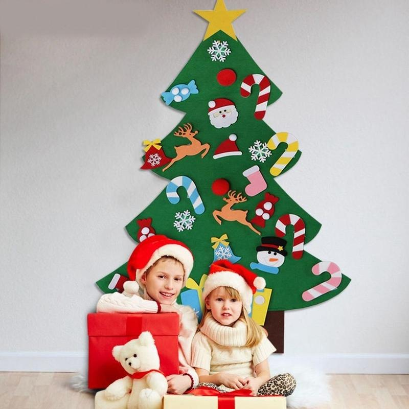 Gifts for children-The felt Christmas tree