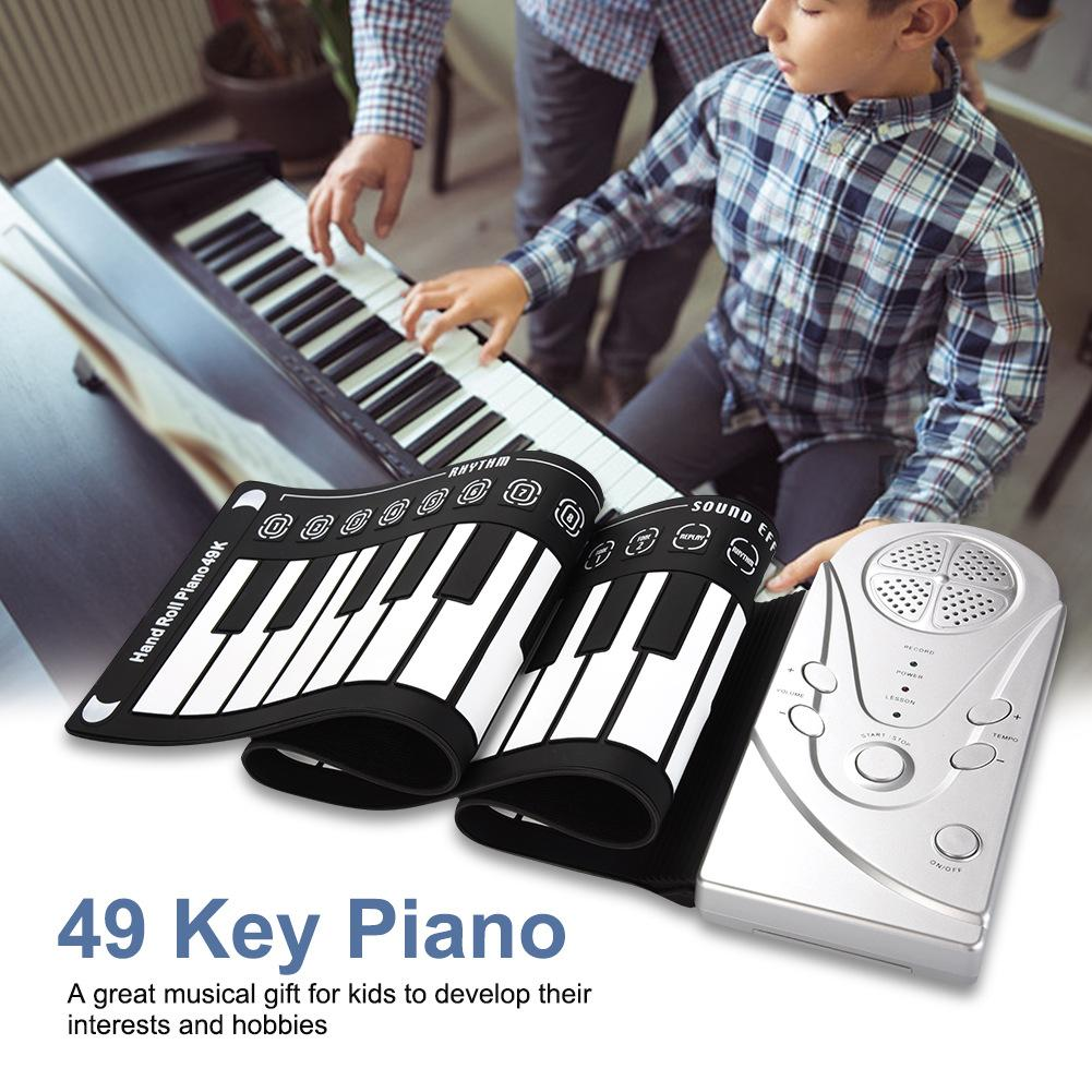 49 Key Flexible Roll-Up Softkey Piano With Loud Speaker