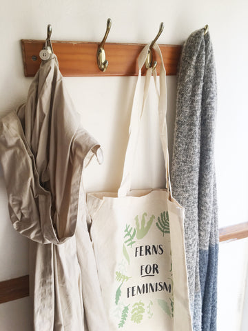 Ferns for Feminism Cotton Tote Bag