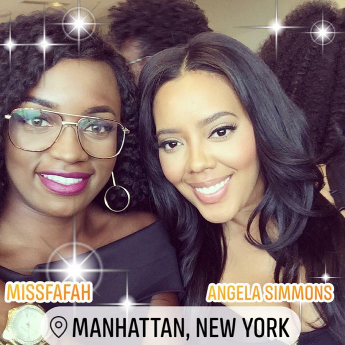 Our CEO Meets With Angela Simmons in NYC 2018