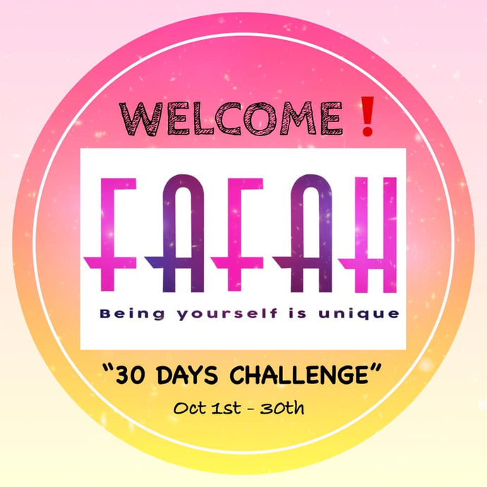 The 30 DAYS SELF-LOVE CHALLENGE By FAFAH