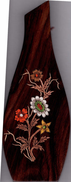 Mysore Floral Inlay Art Handmade Indian Miniature Rosewood Wall Hanging Decor