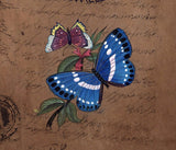 Mughal Butterfly Floral Miniature Painting Handmade Moghul Old Stamp Paper Art