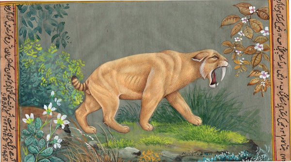 Saber Toothed Cat Art