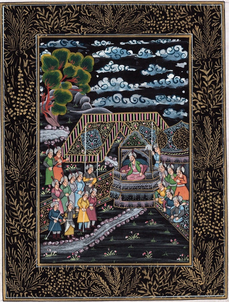 Indo Persian Miniature Rare Art Handmade Islamic Middle Eastern Folk Painting
