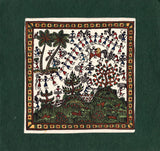 Indian Maharashtra Tribal Varli Art Handmade Warli Miniature Decor Folk Painting