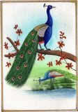 Handmade Miniature Indian Peacock Art Blue Green Feather Nature Bird Ethnic Art