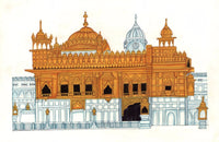 Golden Temple Painting Handmade Harmandir Sahib Sikh Gurdwara Monument Art